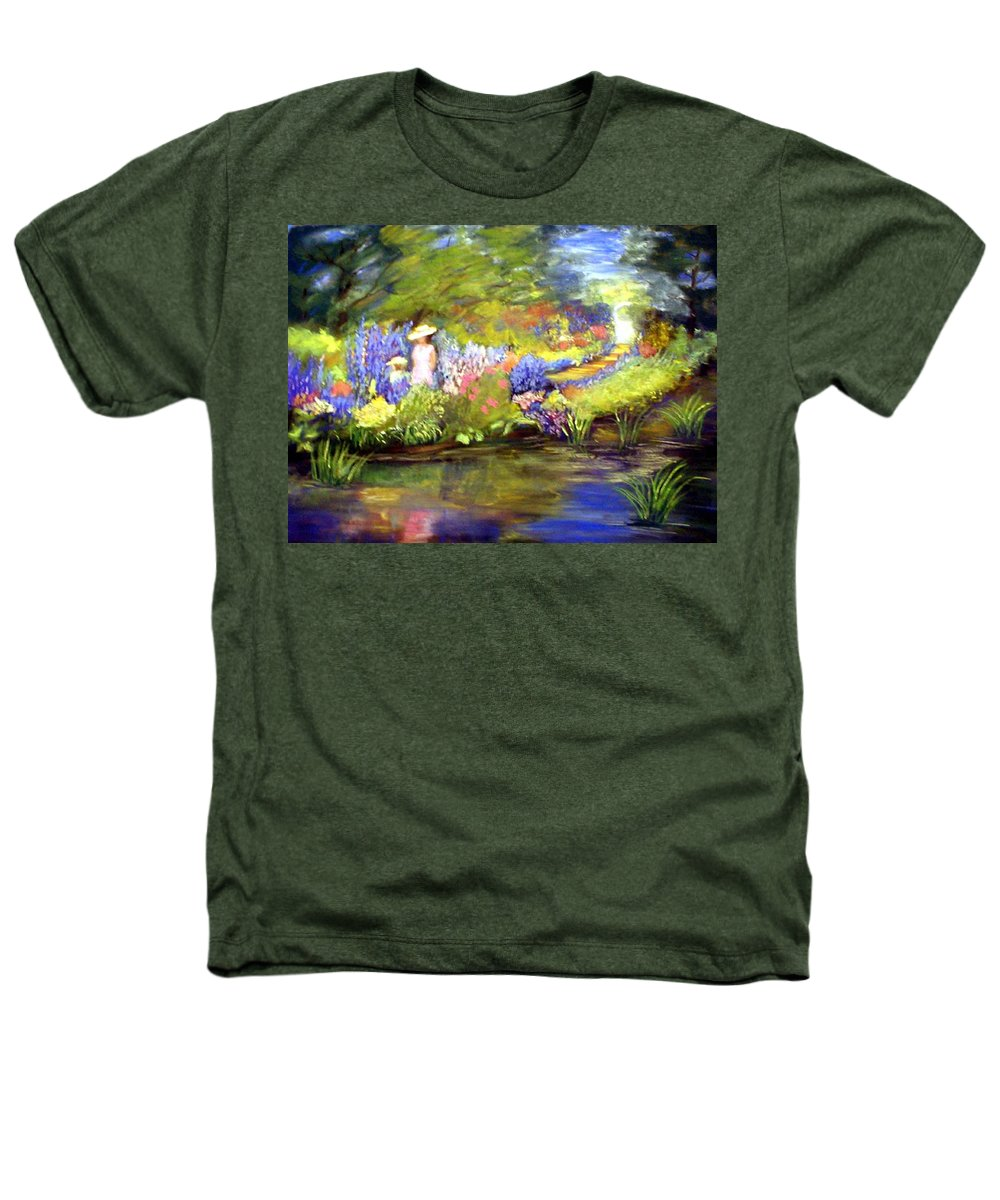 Flower Garden Heathers T-Shirt featuring the painting Mother And Daughter by Gail Kirtz
