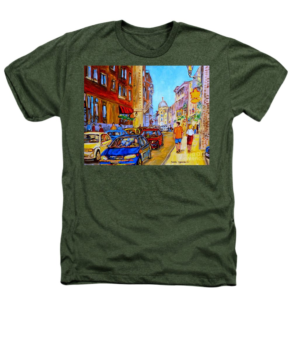 Old Montreal Street Scenes Heathers T-Shirt featuring the painting Old Montreal by Carole Spandau