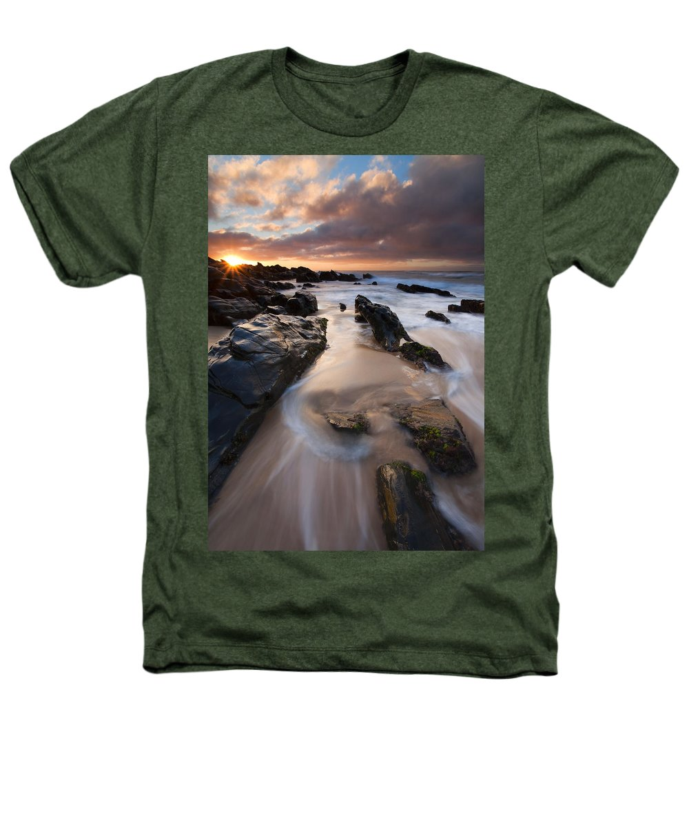 Basham Beach Heathers T-Shirt featuring the photograph On The Rocks by Mike Dawson
