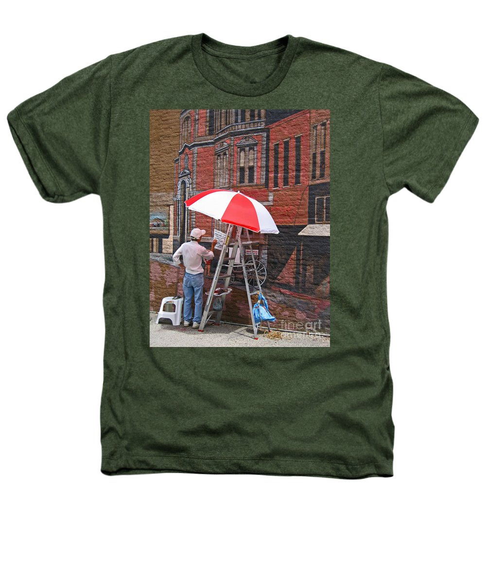 Artist Heathers T-Shirt featuring the photograph Painting The Past by Ann Horn