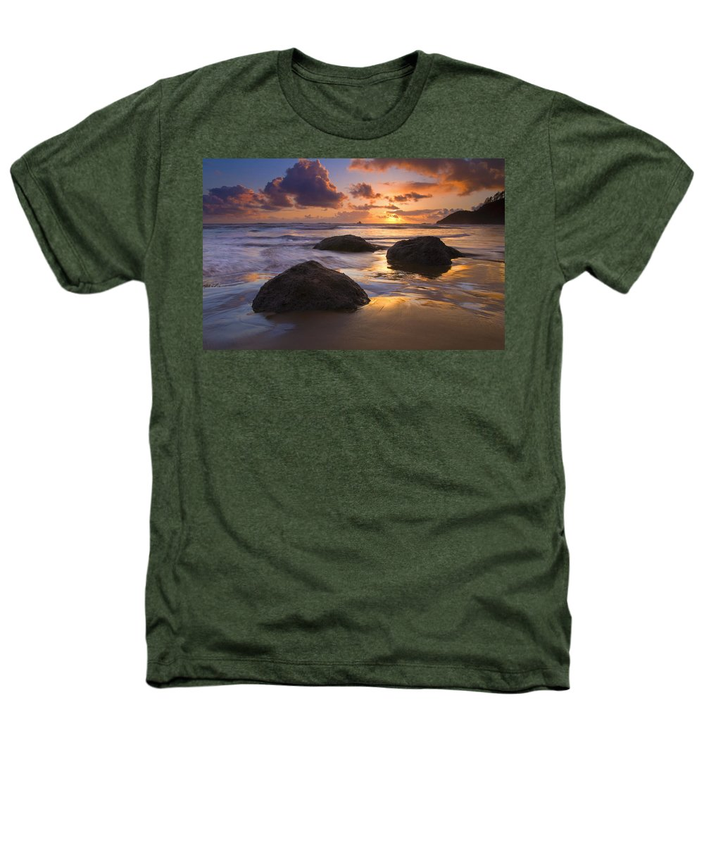 Sunset Heathers T-Shirt featuring the photograph Pieces Of Eight by Mike Dawson