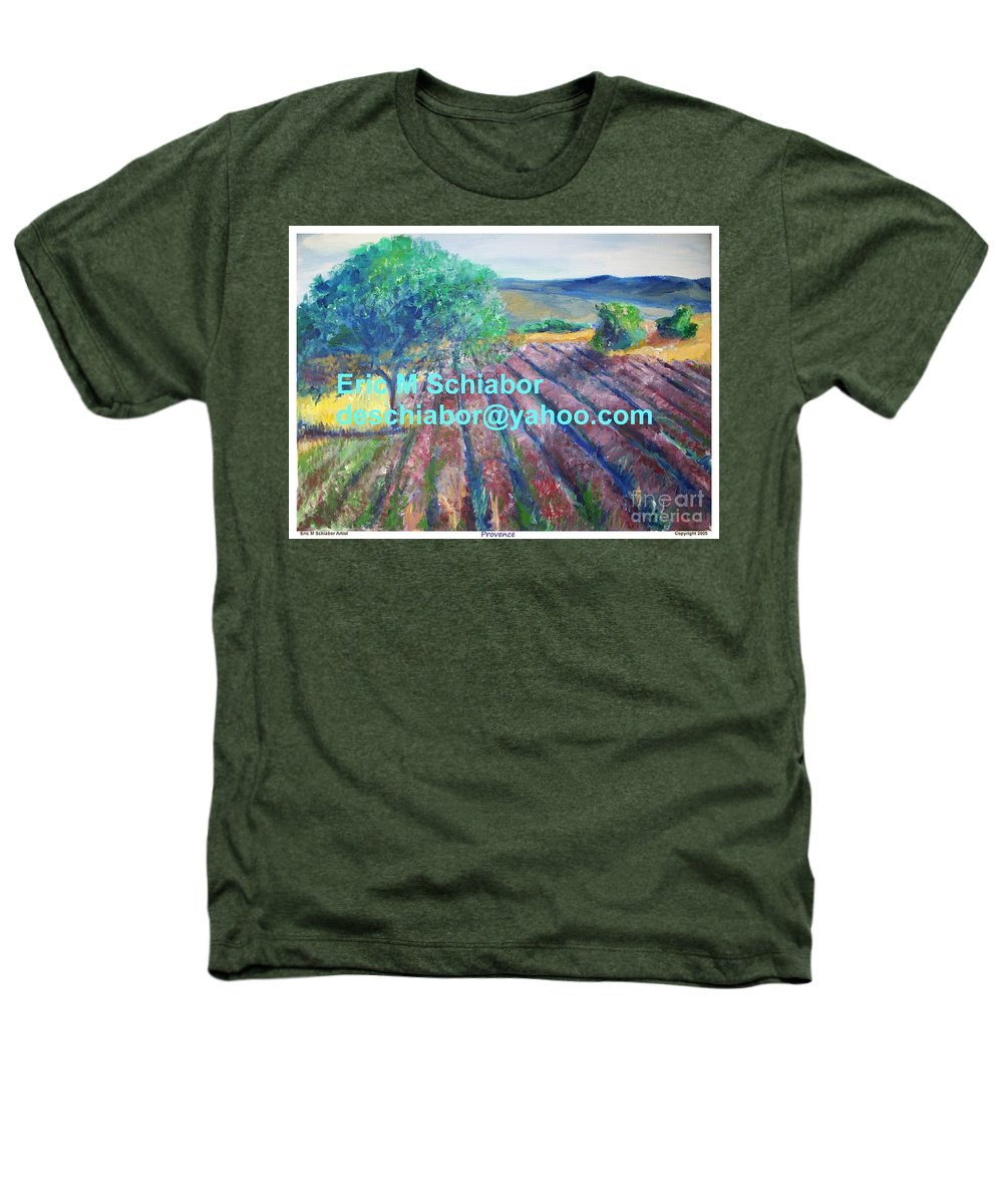 The Actor Heathers T-Shirt featuring the painting Provence Lavender Field by Eric Schiabor