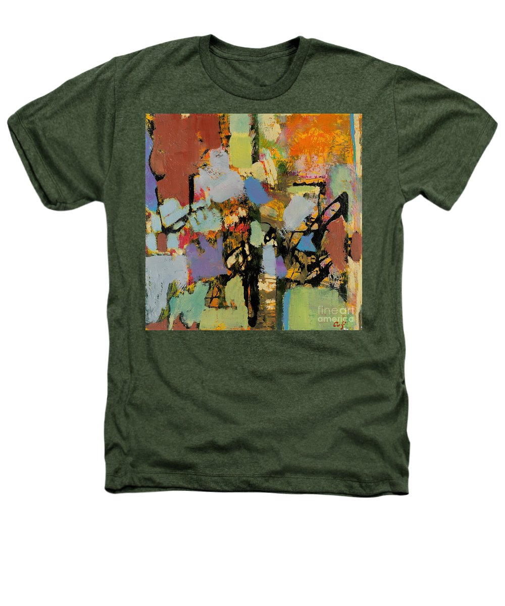 Landscape Heathers T-Shirt featuring the painting Quick Racing by Allan P Friedlander