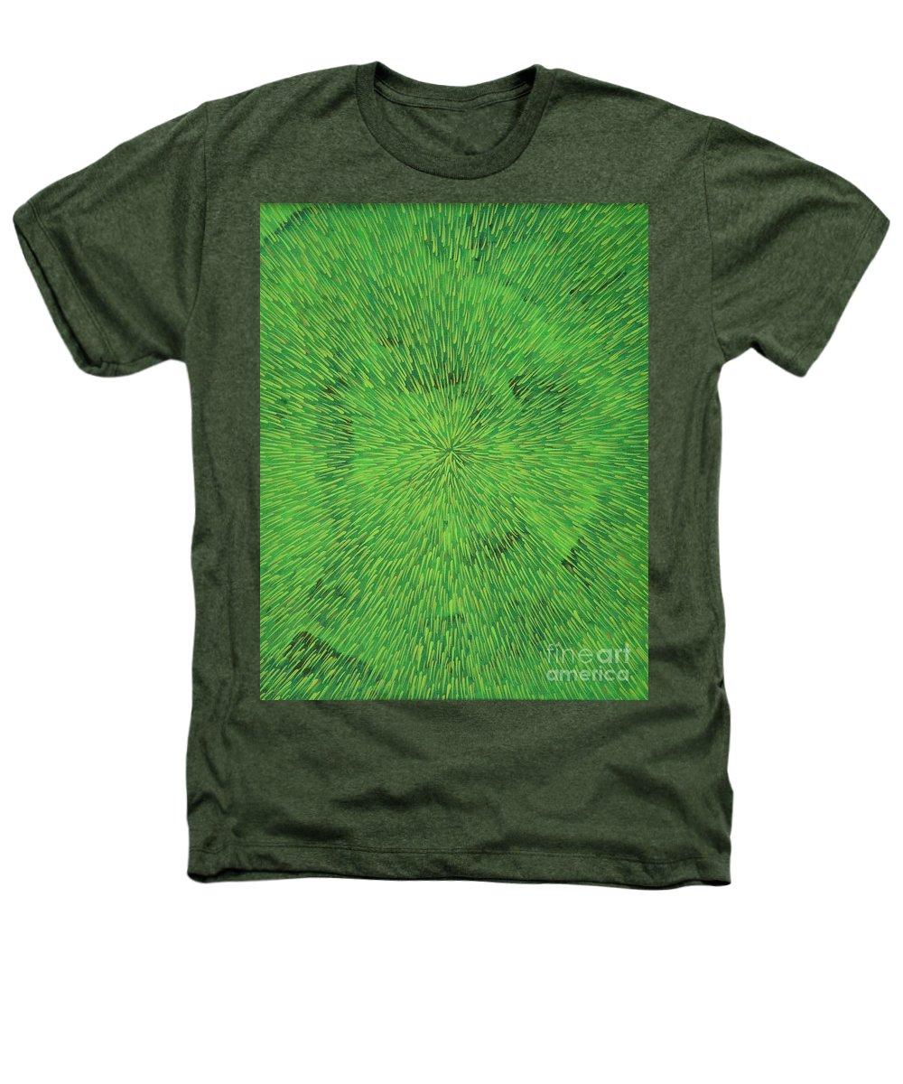Abstract Heathers T-Shirt featuring the painting Radiation Green by Dean Triolo