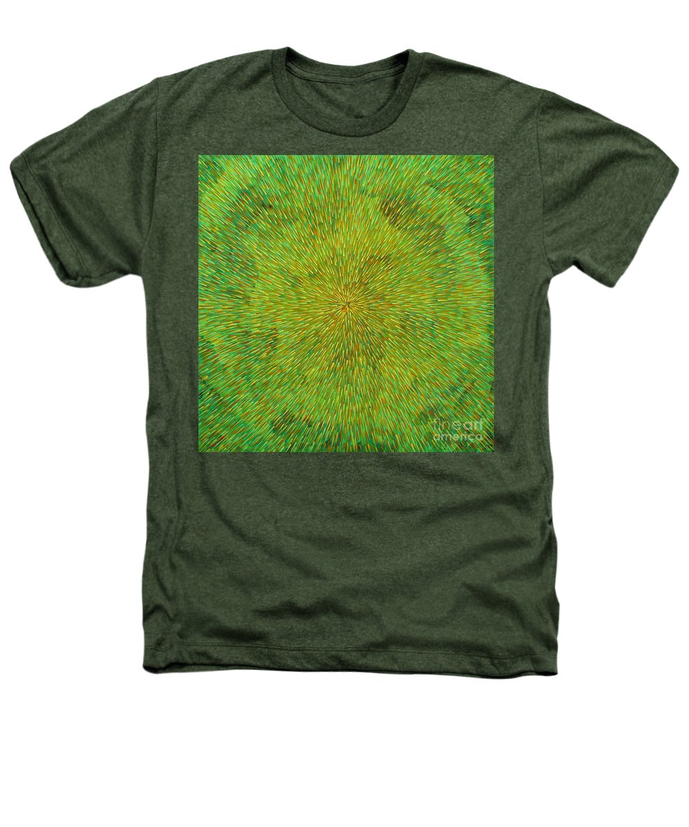 Abstract Heathers T-Shirt featuring the painting Radiation With Green Yellow And Orange by Dean Triolo