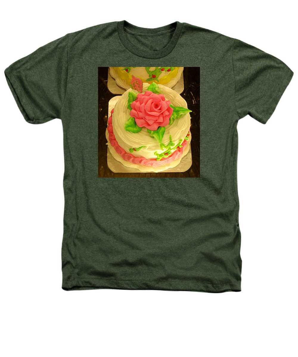 Food Heathers T-Shirt featuring the painting Rose Cakes by Amy Vangsgard
