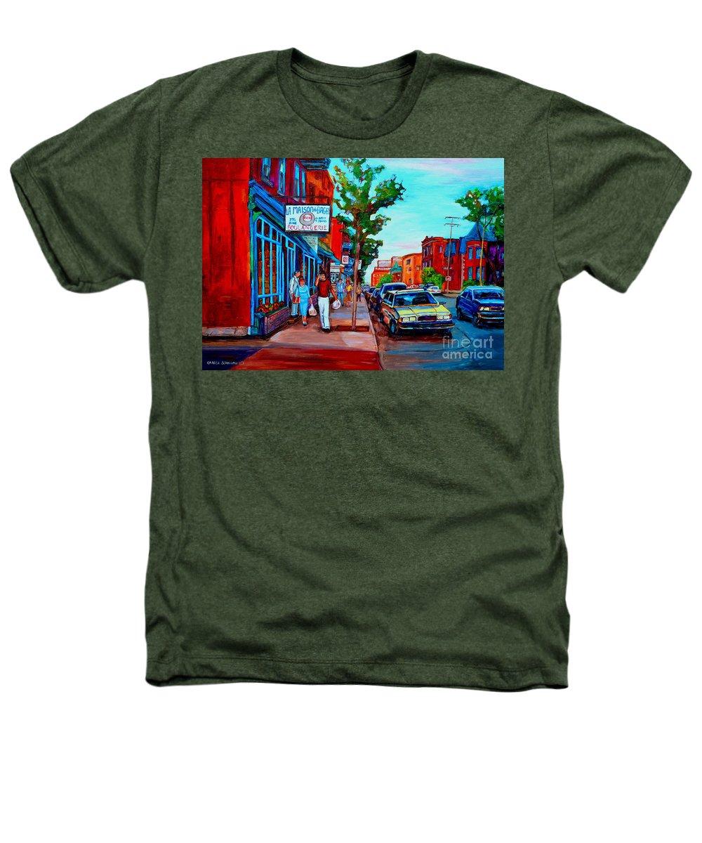 St.viateur Bagel Shop Heathers T-Shirt featuring the painting Saint Viateur Bagel Shop by Carole Spandau