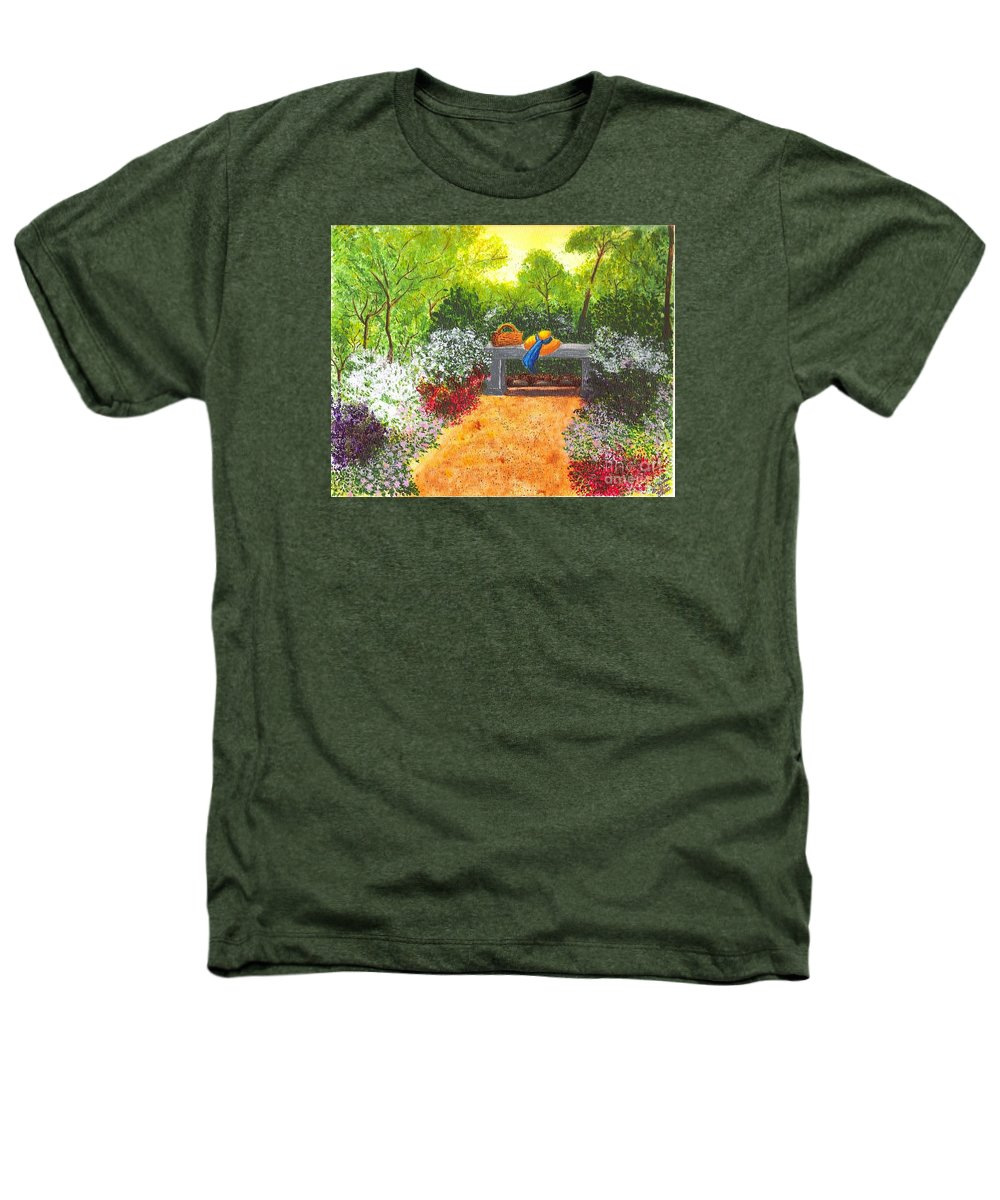 Garden Painting Heathers T-Shirt featuring the painting Sanctuary by Patricia Griffin Brett
