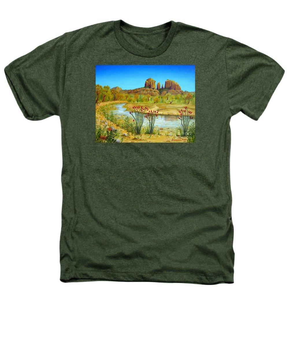 Sedona Heathers T-Shirt featuring the painting Sedona Arizona by Jerome Stumphauzer