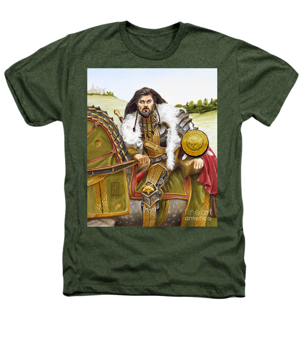 Fine Art Heathers T-Shirt featuring the painting Sir Marhaus by Melissa A Benson