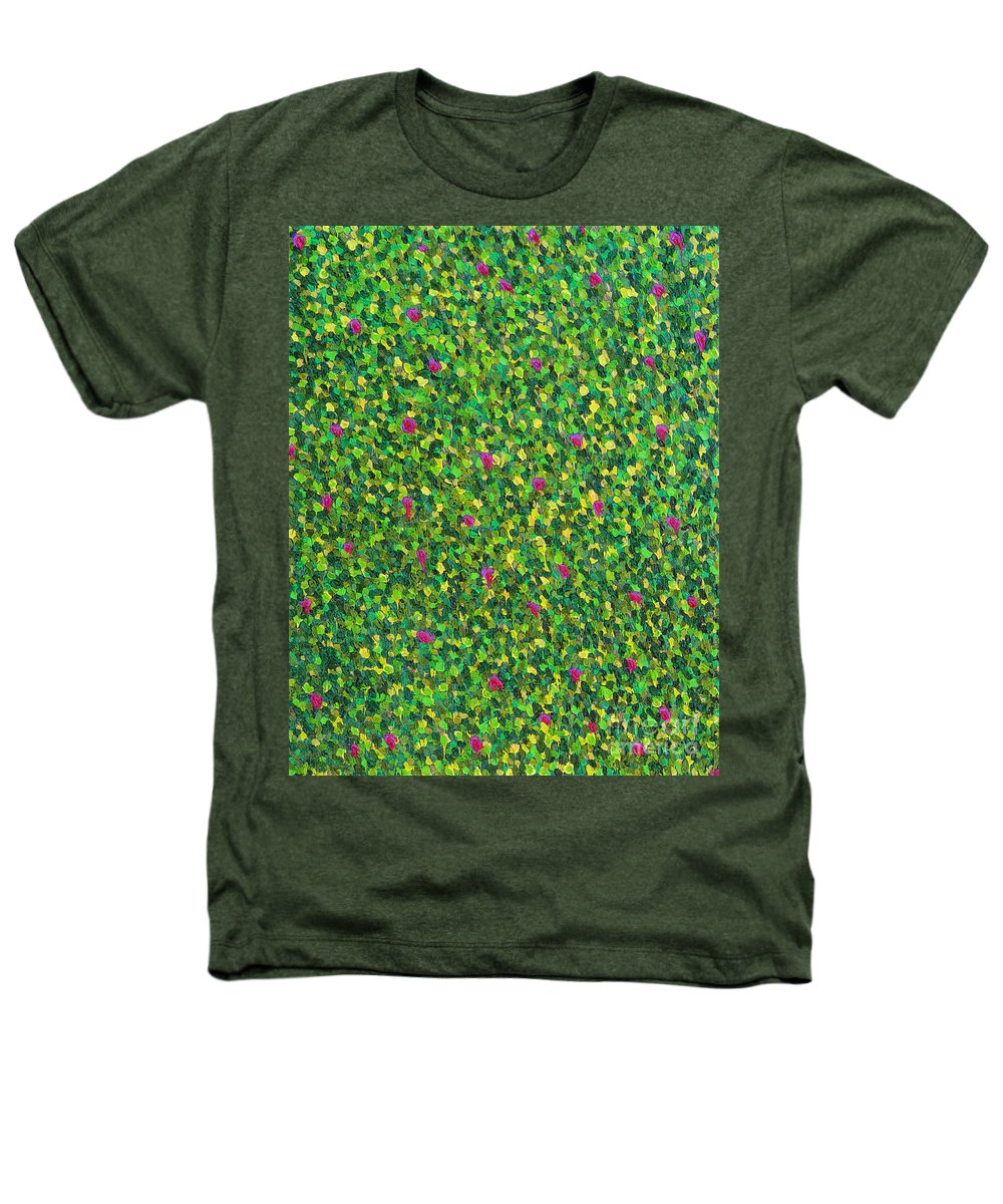 Abstract Heathers T-Shirt featuring the painting Soft Green With Pink by Dean Triolo