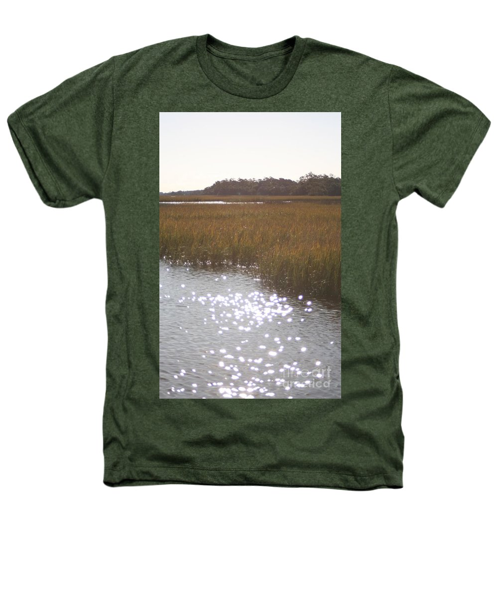 Marsh Heathers T-Shirt featuring the photograph Sparkling Marsh by Nadine Rippelmeyer