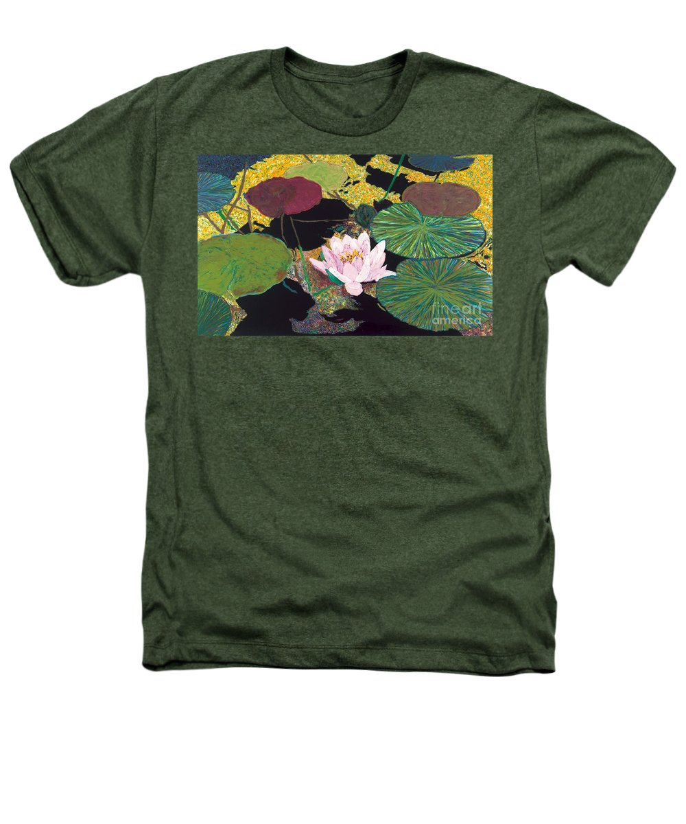 Landscape Heathers T-Shirt featuring the painting Steamy Pond by Allan P Friedlander