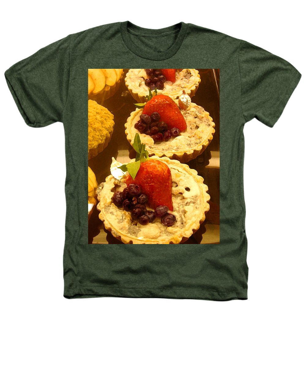 Food Heathers T-Shirt featuring the painting Strawberry Blueberry Tarts by Amy Vangsgard