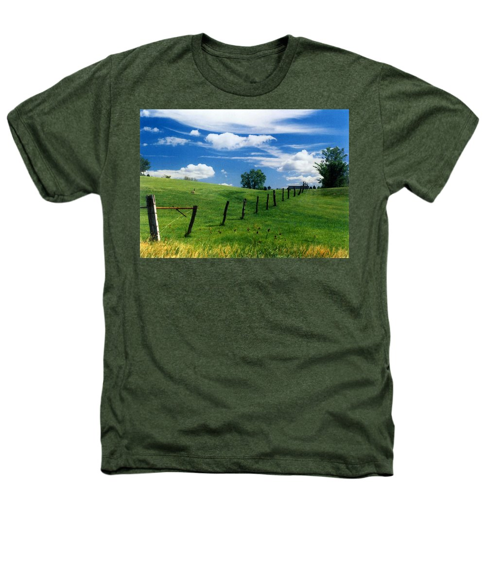 Summer Landscape Heathers T-Shirt featuring the photograph Summer Landscape by Steve Karol