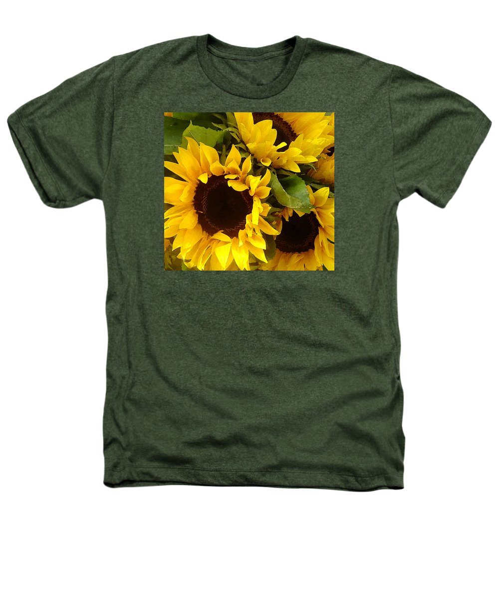 Sunflowers Heathers T-Shirt featuring the painting Sunflowers by Amy Vangsgard