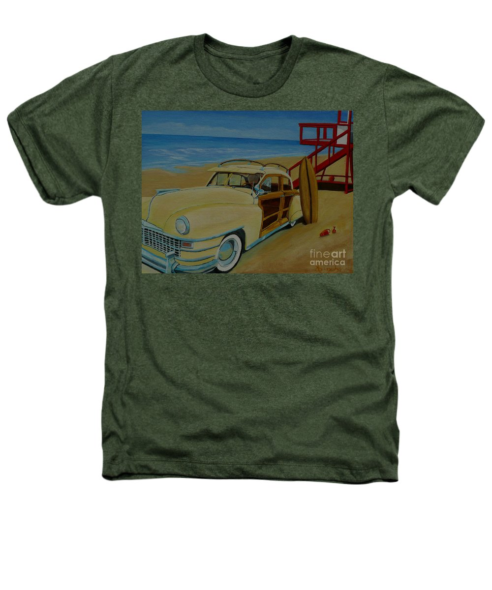 Woody Heathers T-Shirt featuring the painting Surfers Woody by Anthony Dunphy
