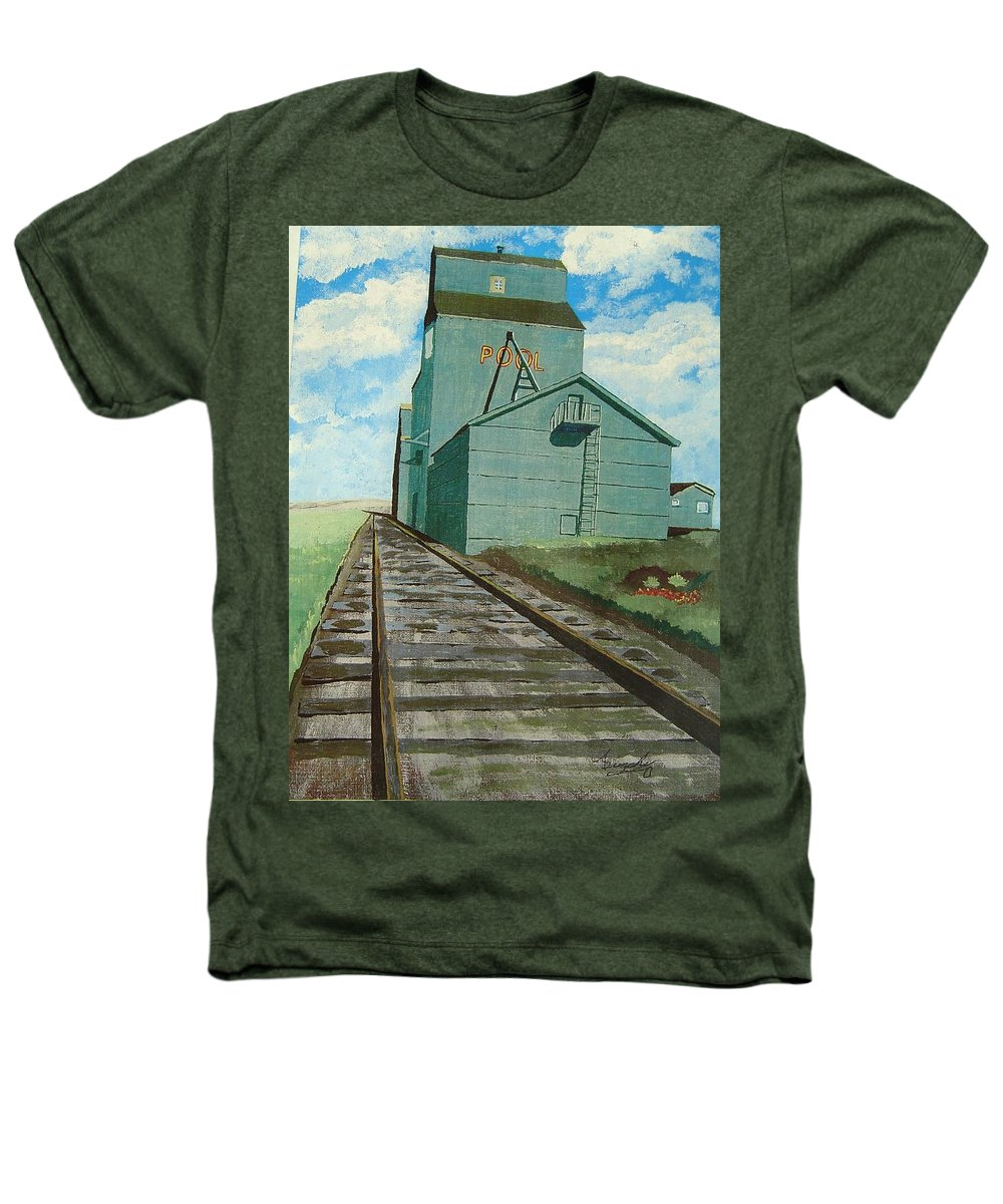 Elevator Heathers T-Shirt featuring the painting The Grain Elevator by Anthony Dunphy