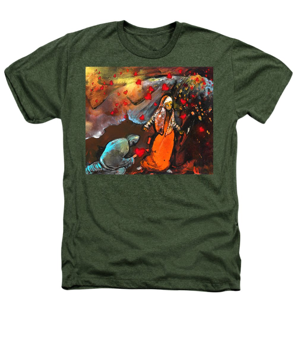 Valentine Heathers T-Shirt featuring the painting The Knight Of Your Heart by Miki De Goodaboom
