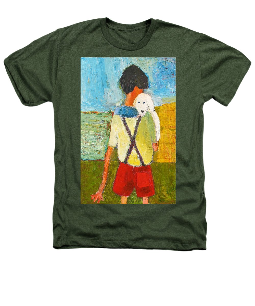 Abstract Heathers T-Shirt featuring the painting The Little Puppy by Habib Ayat