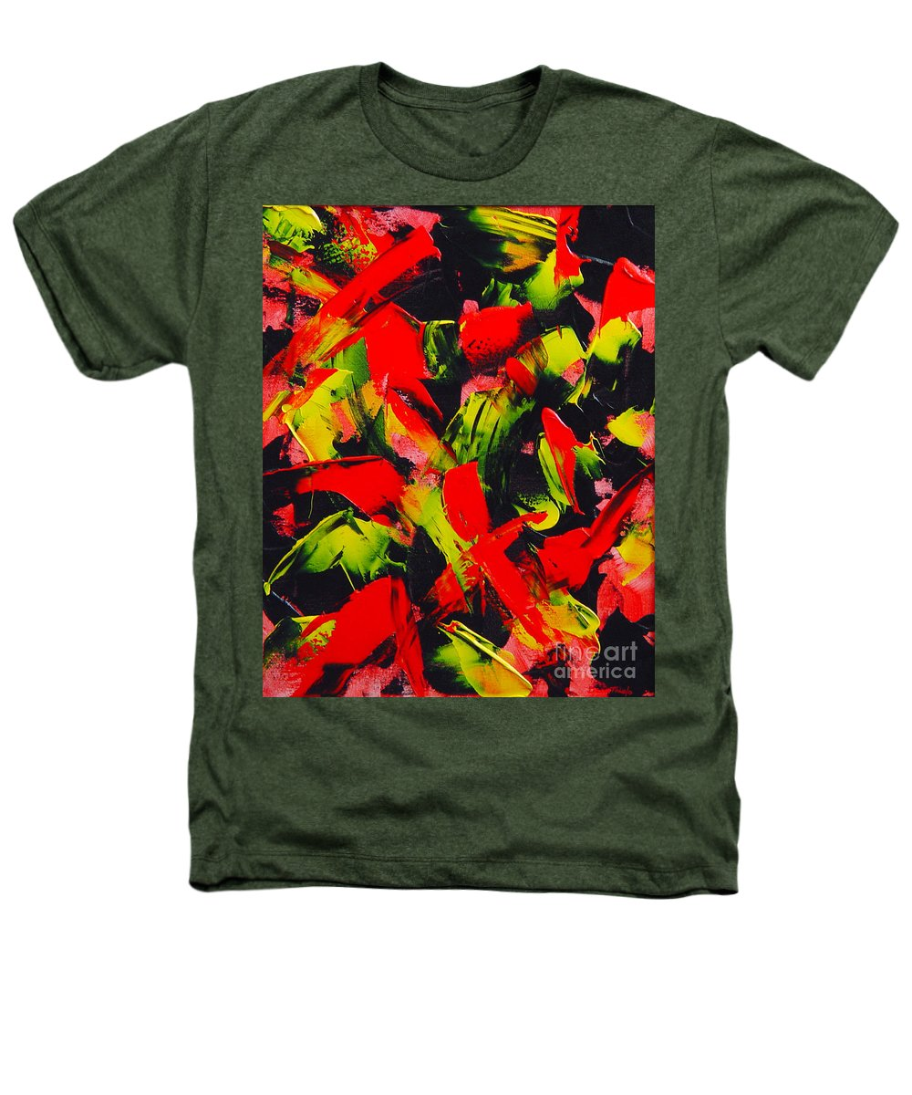 Abstract Heathers T-Shirt featuring the painting Transitions IIi by Dean Triolo