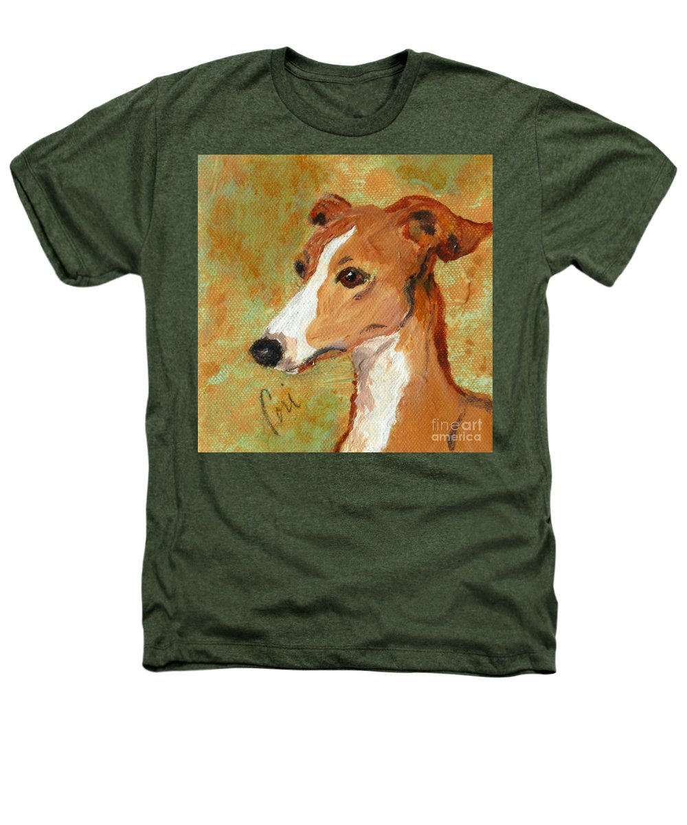 Acrylic Heathers T-Shirt featuring the painting Treasured Moments by Cori Solomon