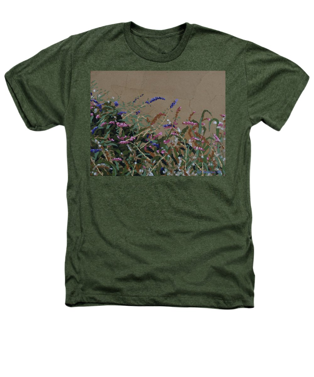 Flowering Butterfly Bush Heathers T-Shirt featuring the painting Tyler by Leah Tomaino