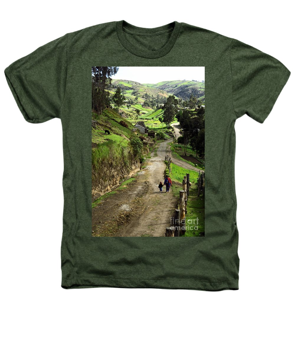 Ecuador Heathers T-Shirt featuring the photograph View Of Lupaxi by Kathy McClure