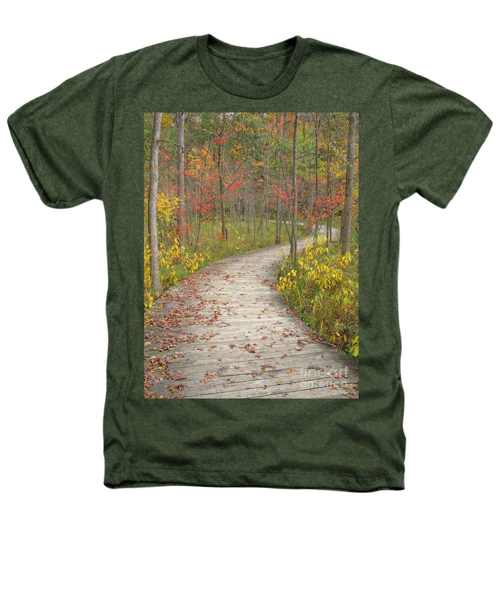 Autumn Heathers T-Shirt featuring the photograph Winding Woods Walk by Ann Horn