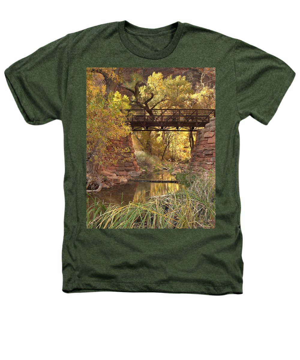 3scape Photos Heathers T-Shirt featuring the photograph Zion Bridge by Adam Romanowicz