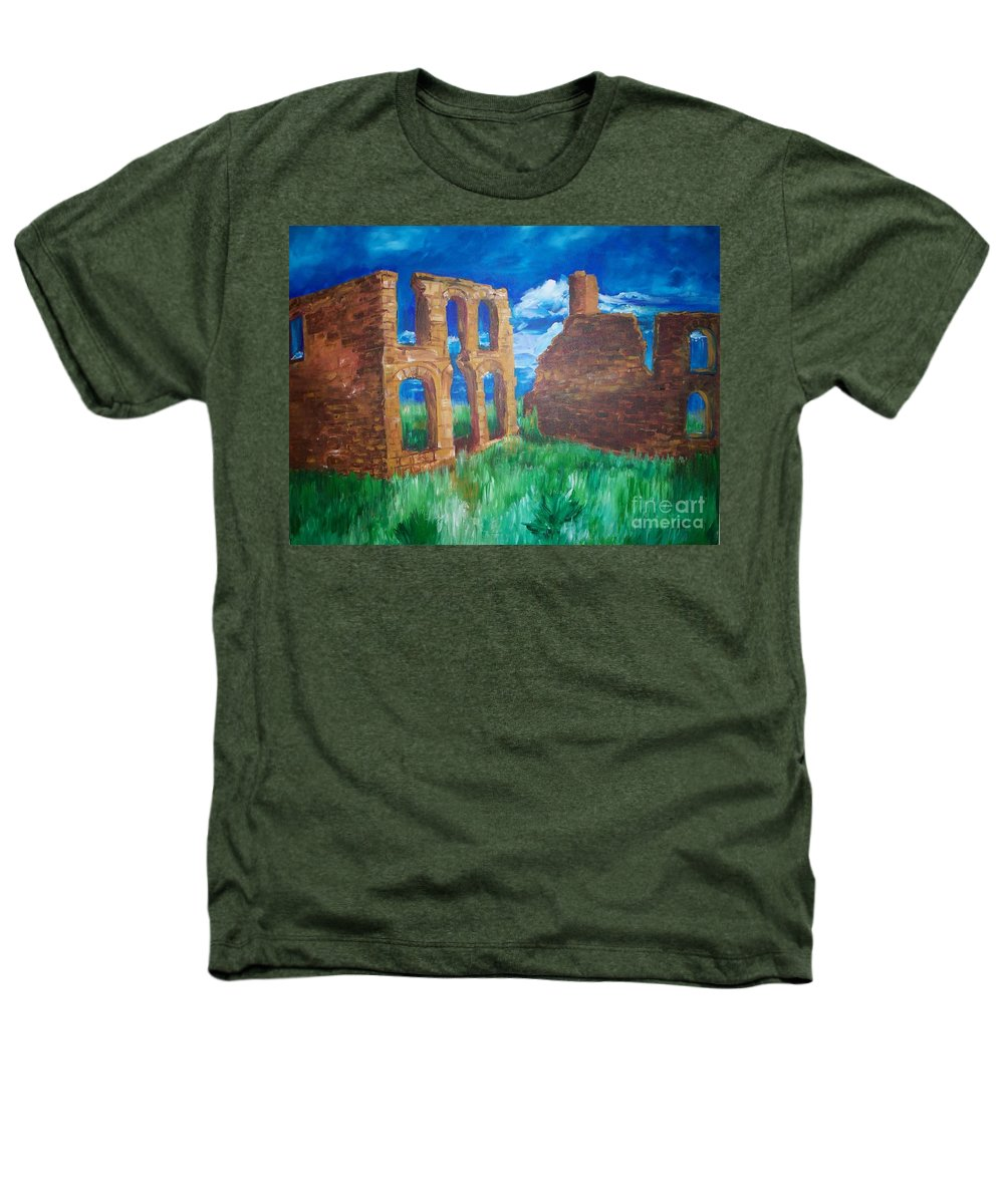 Western_landscapes Heathers T-Shirt featuring the painting Ghost Town by Eric Schiabor