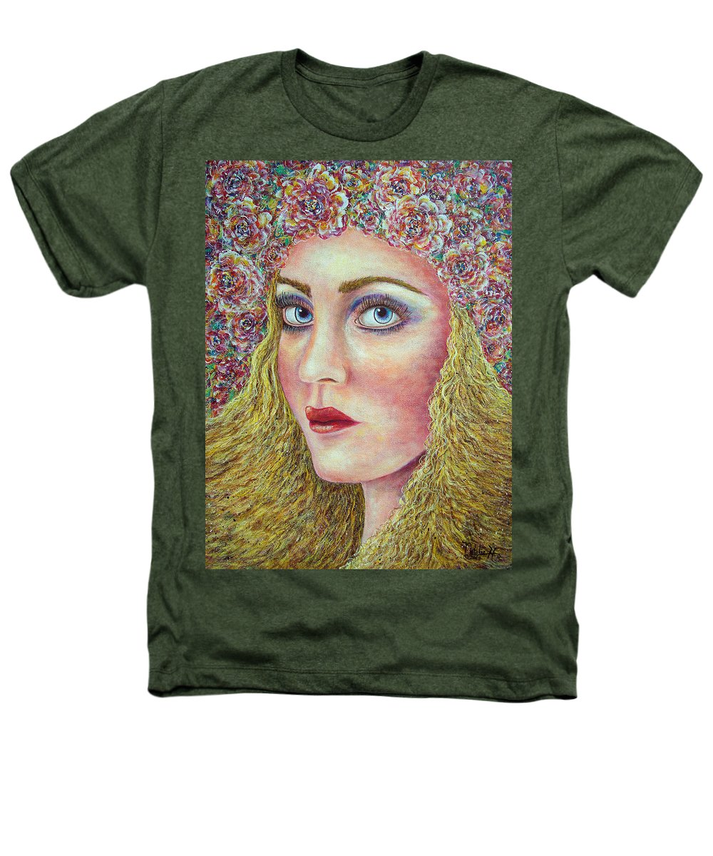 Woman Heathers T-Shirt featuring the painting  The Flower Girl by Natalie Holland