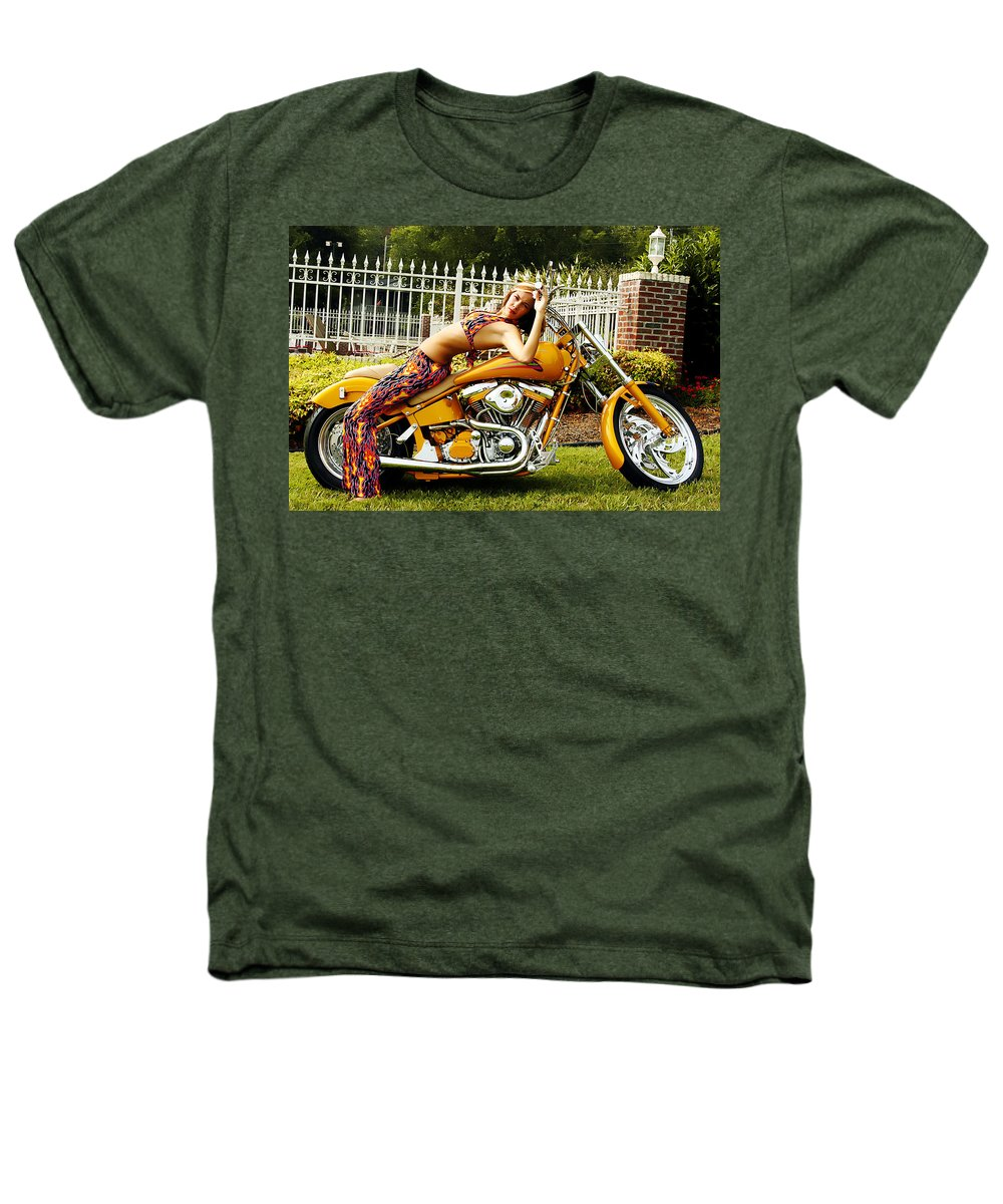Clay Heathers T-Shirt featuring the photograph Bikes And Babes by Clayton Bruster