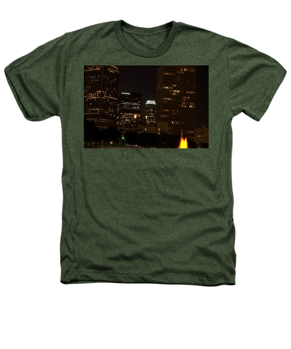Clay Heathers T-Shirt featuring the photograph Downtown L.a. In Hdr by Clayton Bruster