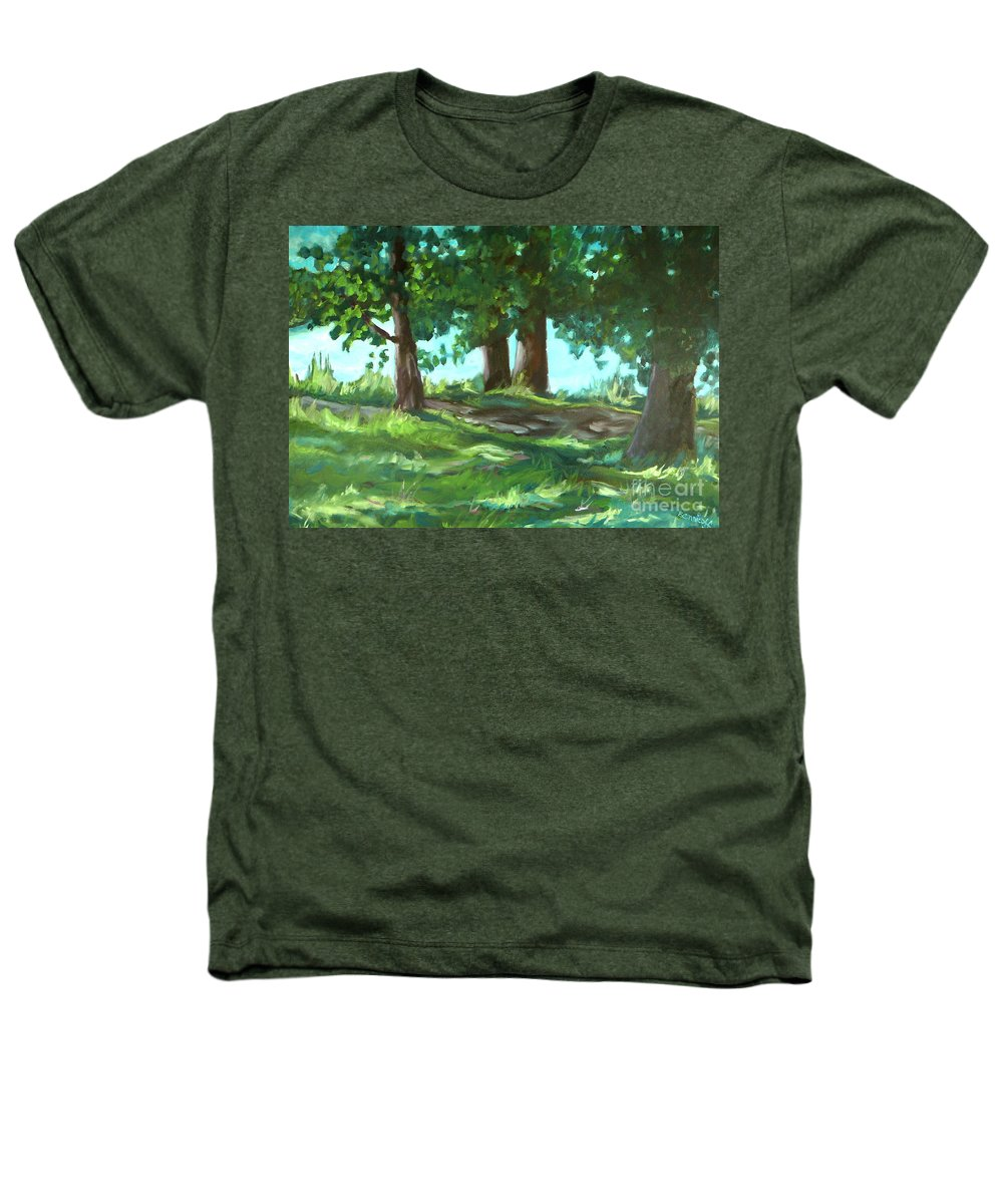 Expressionist Landscape Heathers T-Shirt featuring the painting Dreaming On Fellows Lake by Jan Bennicoff