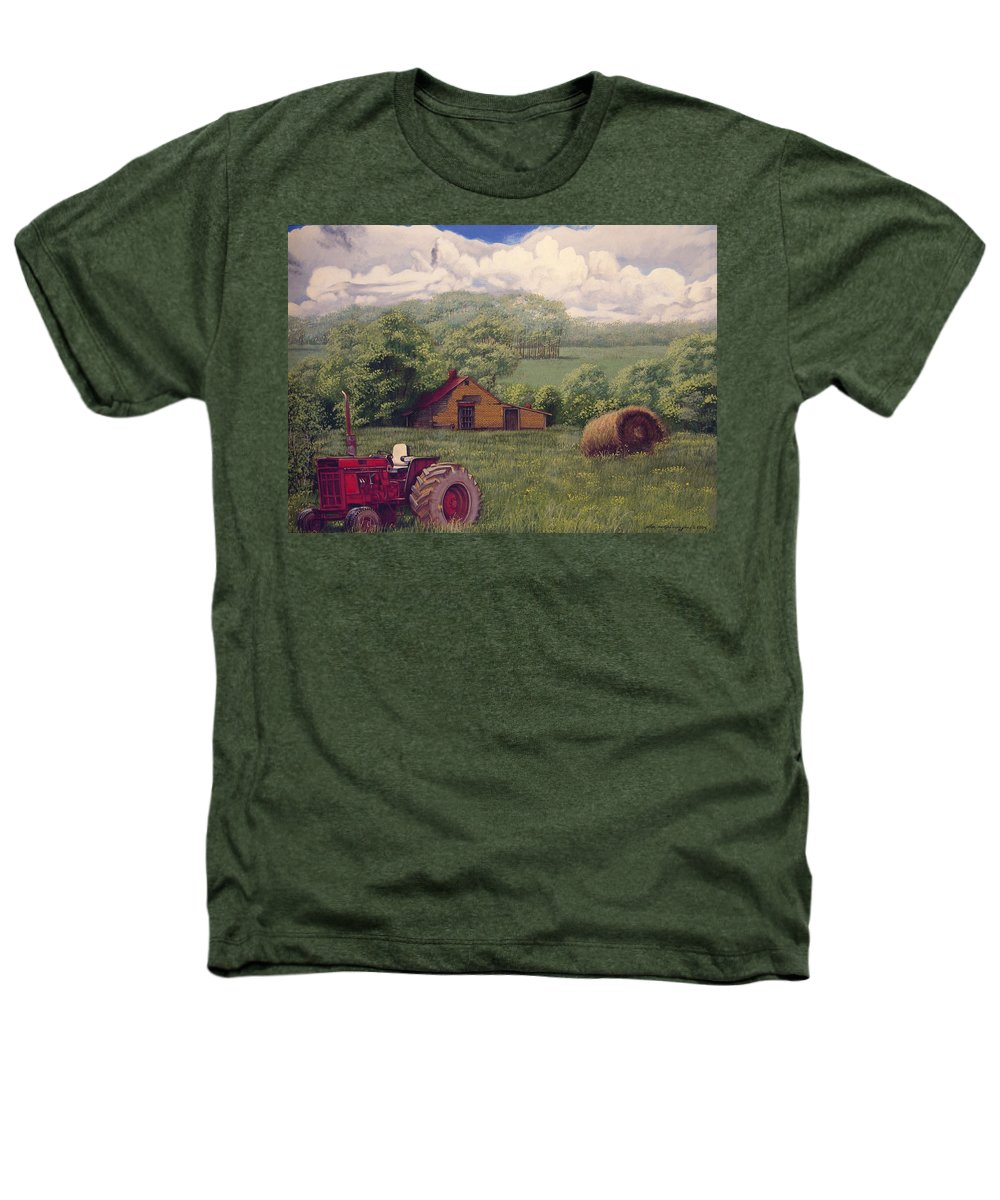 Landscape Heathers T-Shirt featuring the painting Idle In Godfrey Georgia by Peter Muzyka