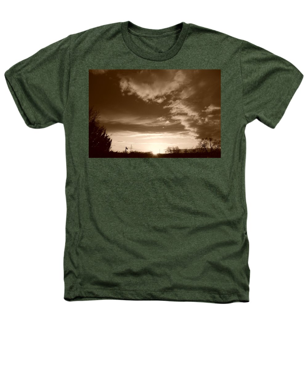 Sunset Heathers T-Shirt featuring the photograph Sunset And Clouds by Rob Hans