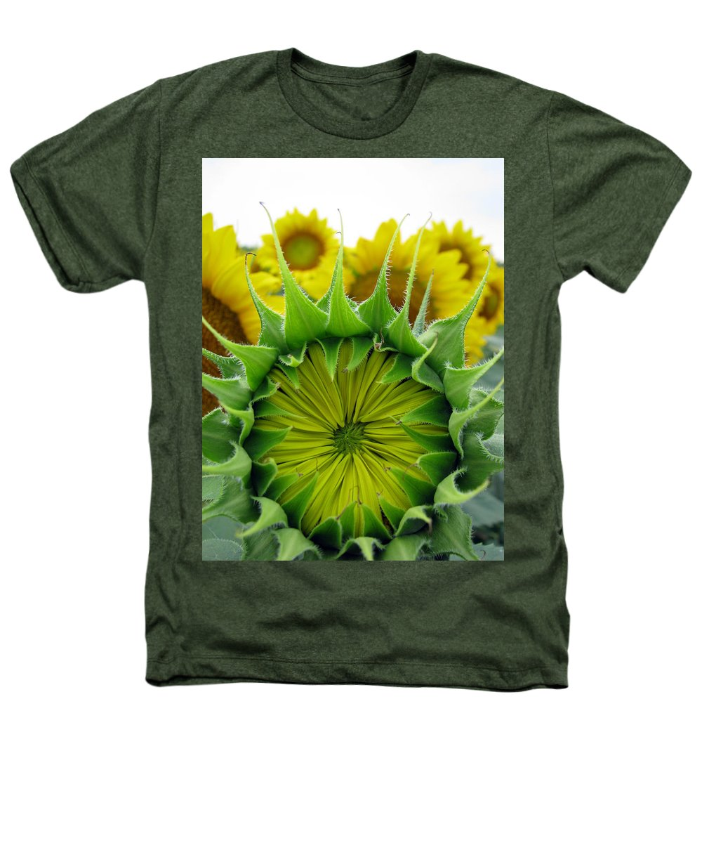 Sunflwoers Heathers T-Shirt featuring the photograph Sunflower Series by Amanda Barcon