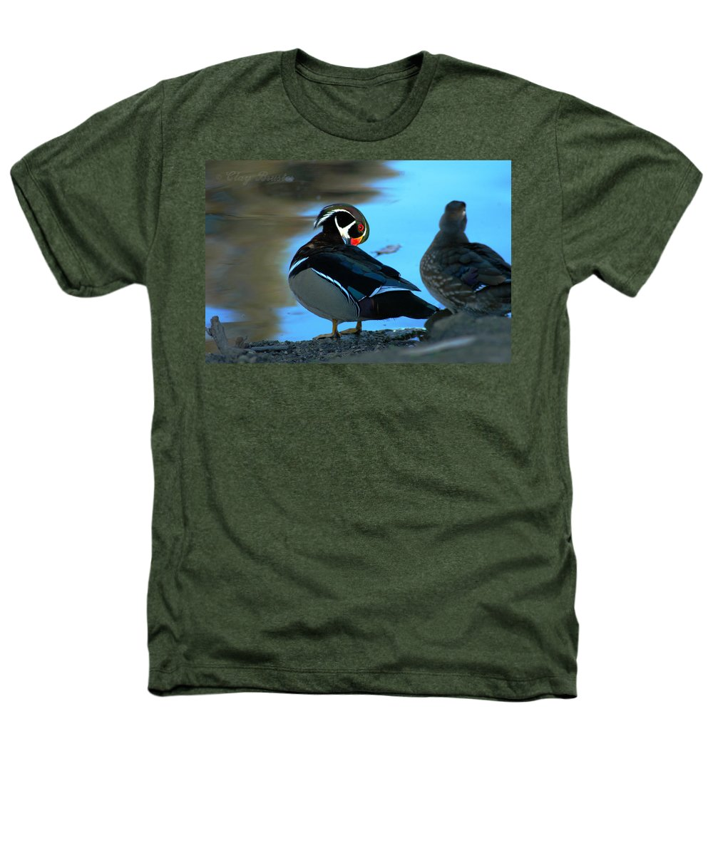 Clay Heathers T-Shirt featuring the photograph Wood Duck by Clayton Bruster
