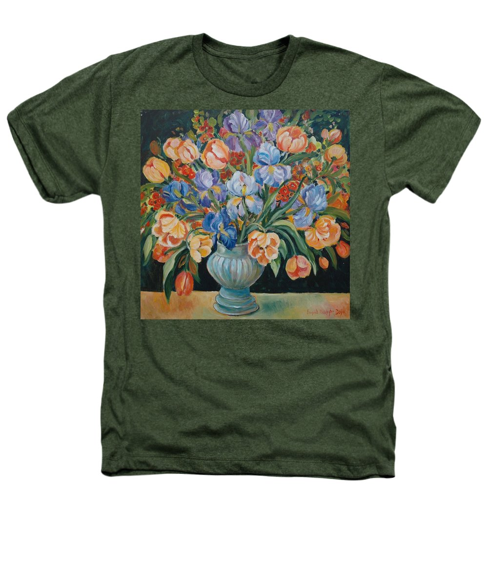 Still Life Heathers T-Shirt featuring the painting Tulips by Alexandra Maria Ethlyn Cheshire