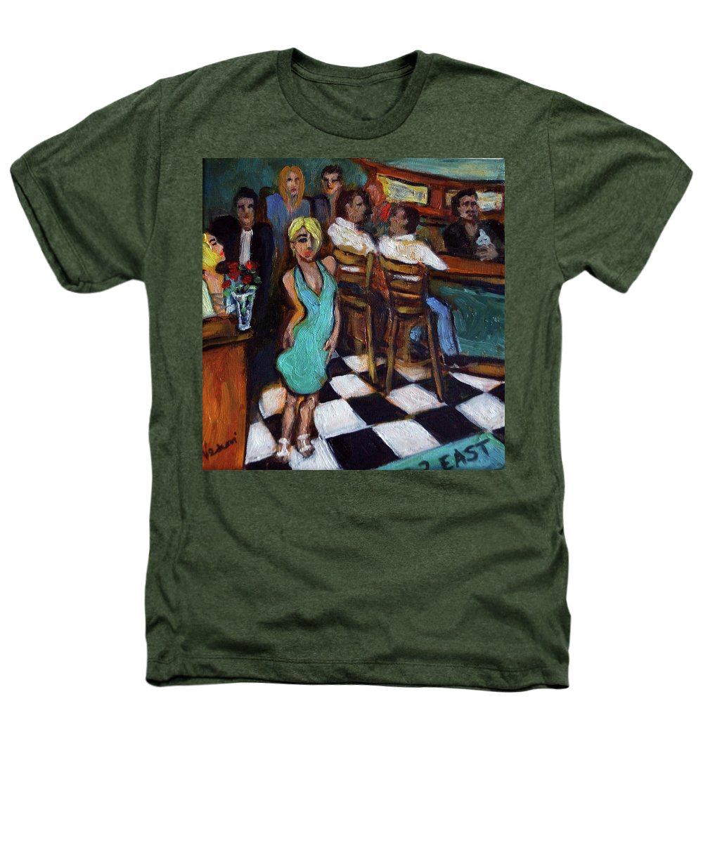 Restaurant Heathers T-Shirt featuring the painting 32 East by Valerie Vescovi