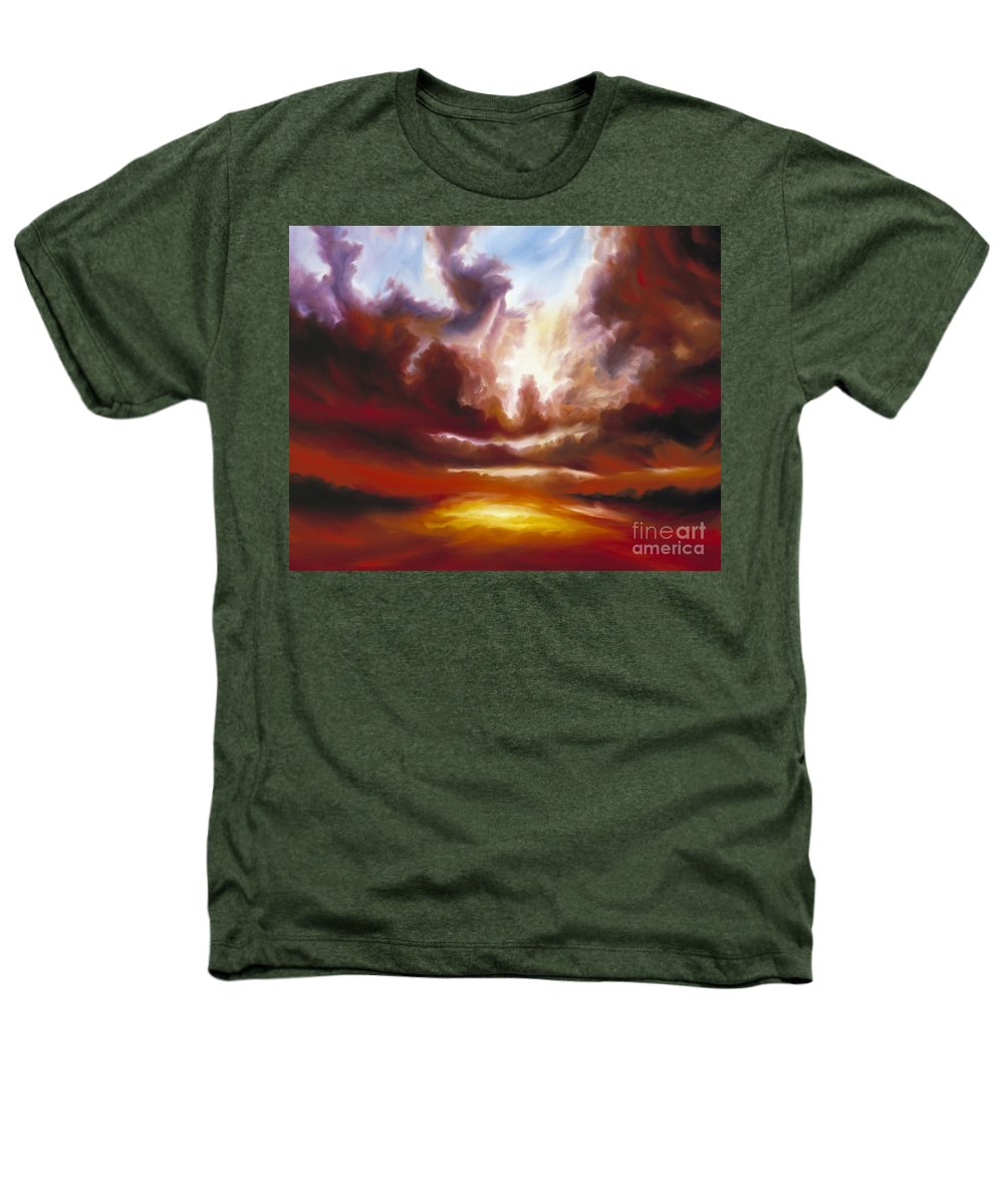 Tempest Heathers T-Shirt featuring the painting A Cosmic Storm - Genesis V by James Christopher Hill