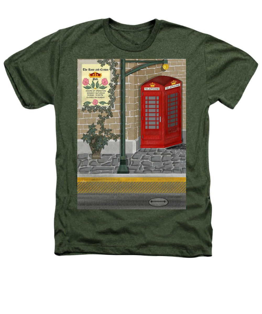 Cityscape Heathers T-Shirt featuring the painting A Merry Old Corner In London by Anne Norskog