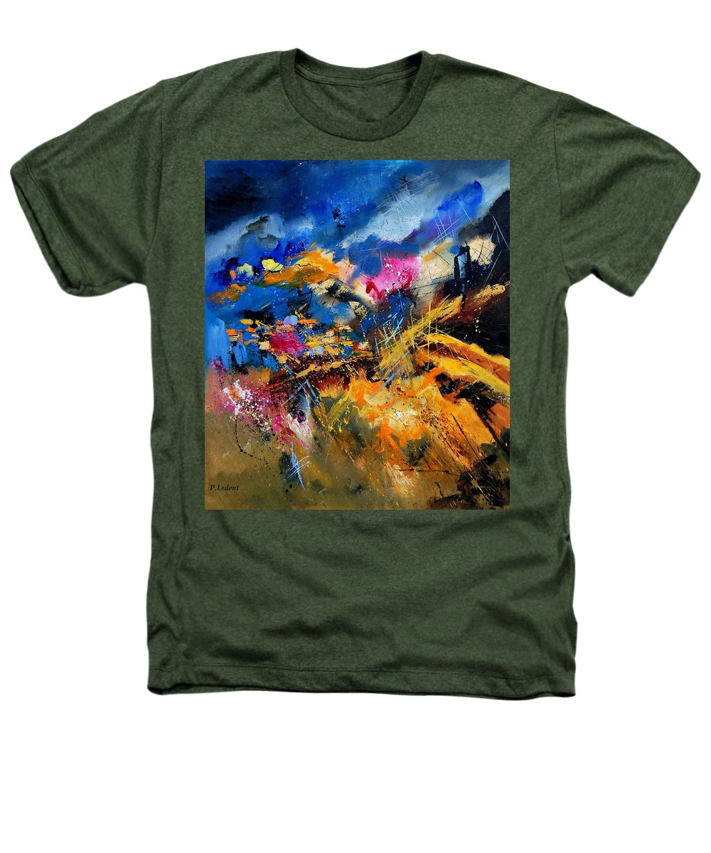 Abstract Heathers T-Shirt featuring the painting Abstract 7808082 by Pol Ledent
