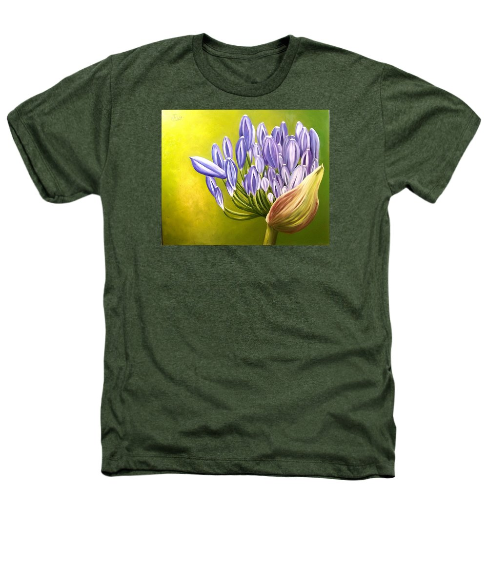 Flower Heathers T-Shirt featuring the painting Agapanthos by Natalia Tejera