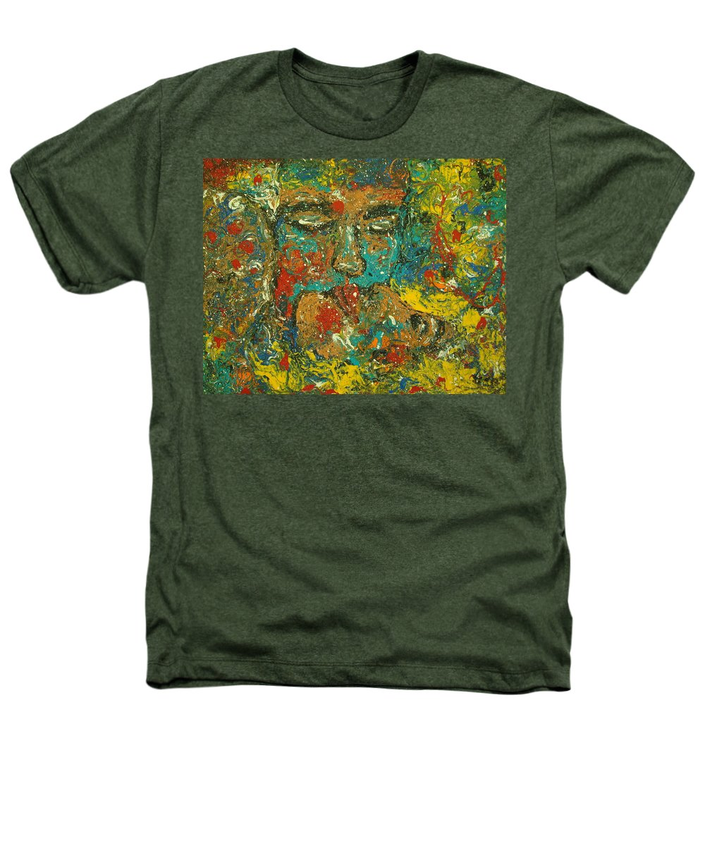 Romantic Heathers T-Shirt featuring the painting Allure Of Love by Natalie Holland
