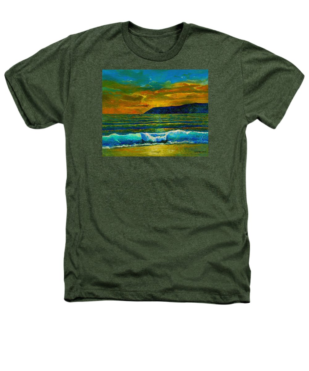 Seascape Heathers T-Shirt featuring the painting Along The African Coast by Michael Durst