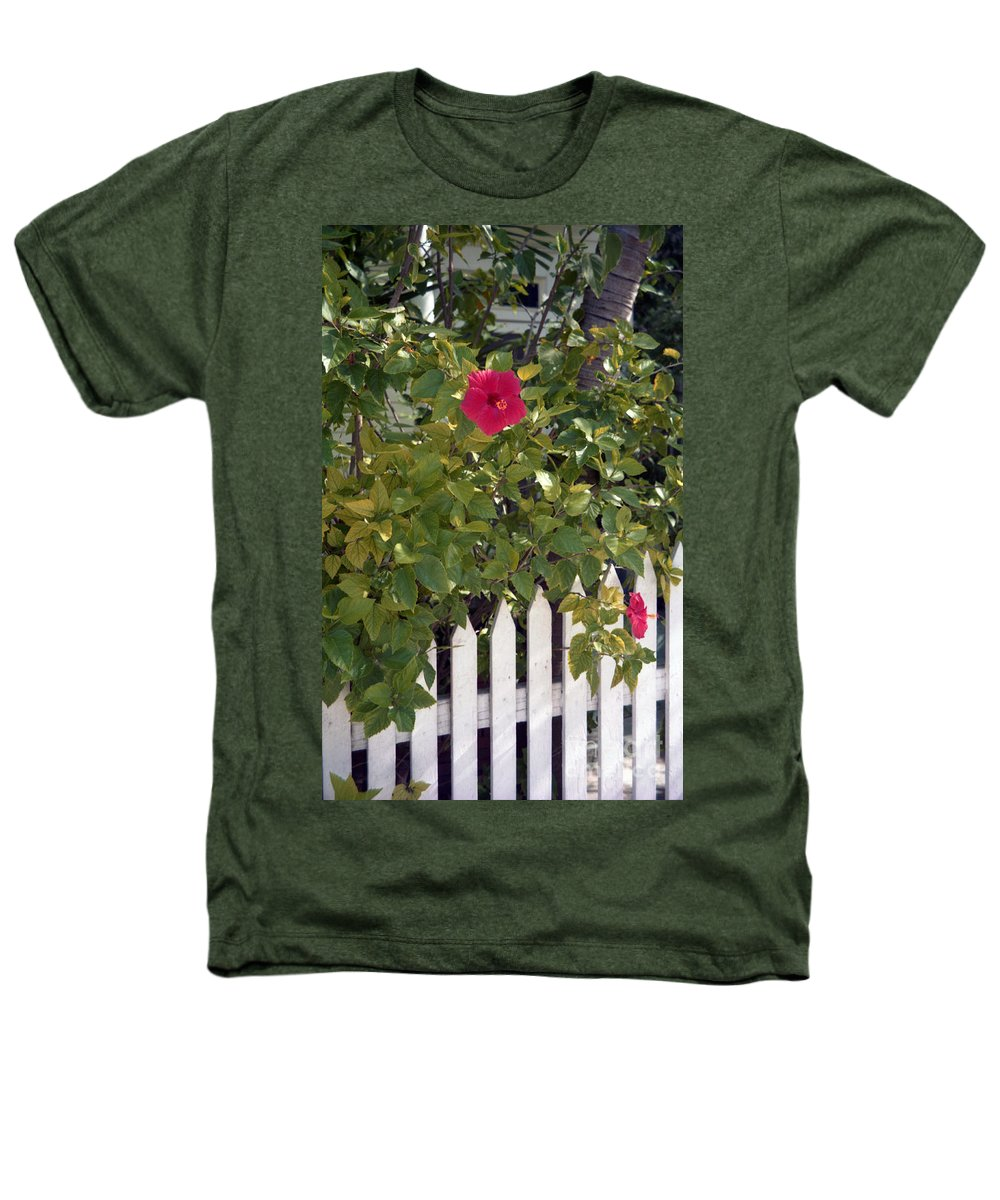 Azelea Heathers T-Shirt featuring the photograph Along The Picket Fence by Richard Rizzo