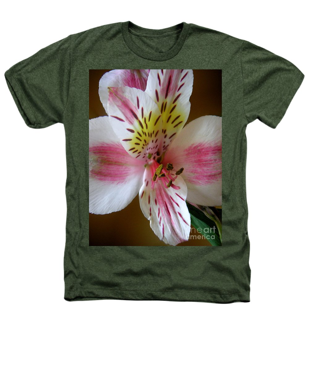 Nature Heathers T-Shirt featuring the photograph Alstroemerias - Close by Lucyna A M Green