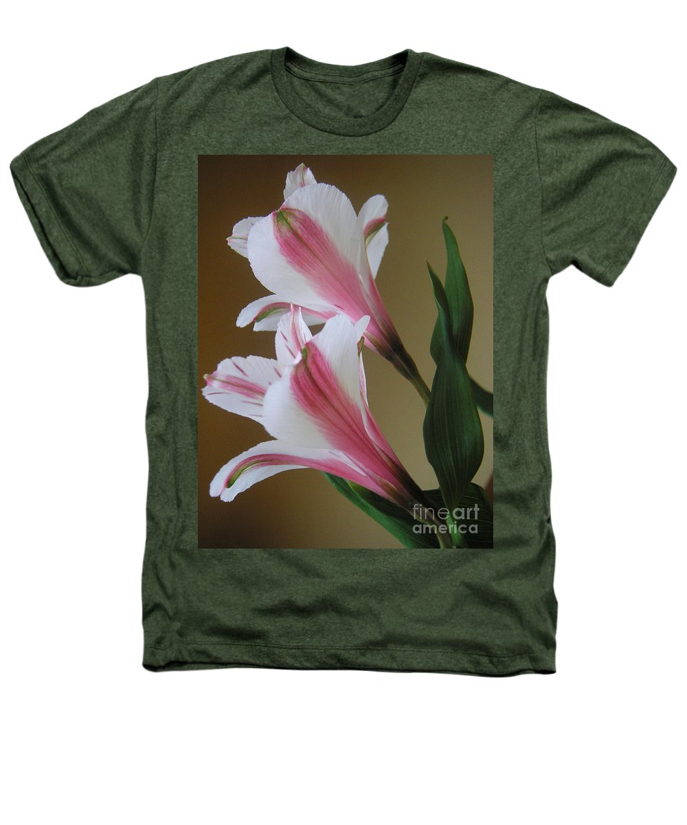 Nature Heathers T-Shirt featuring the photograph Alstroemerias - Doubled by Lucyna A M Green